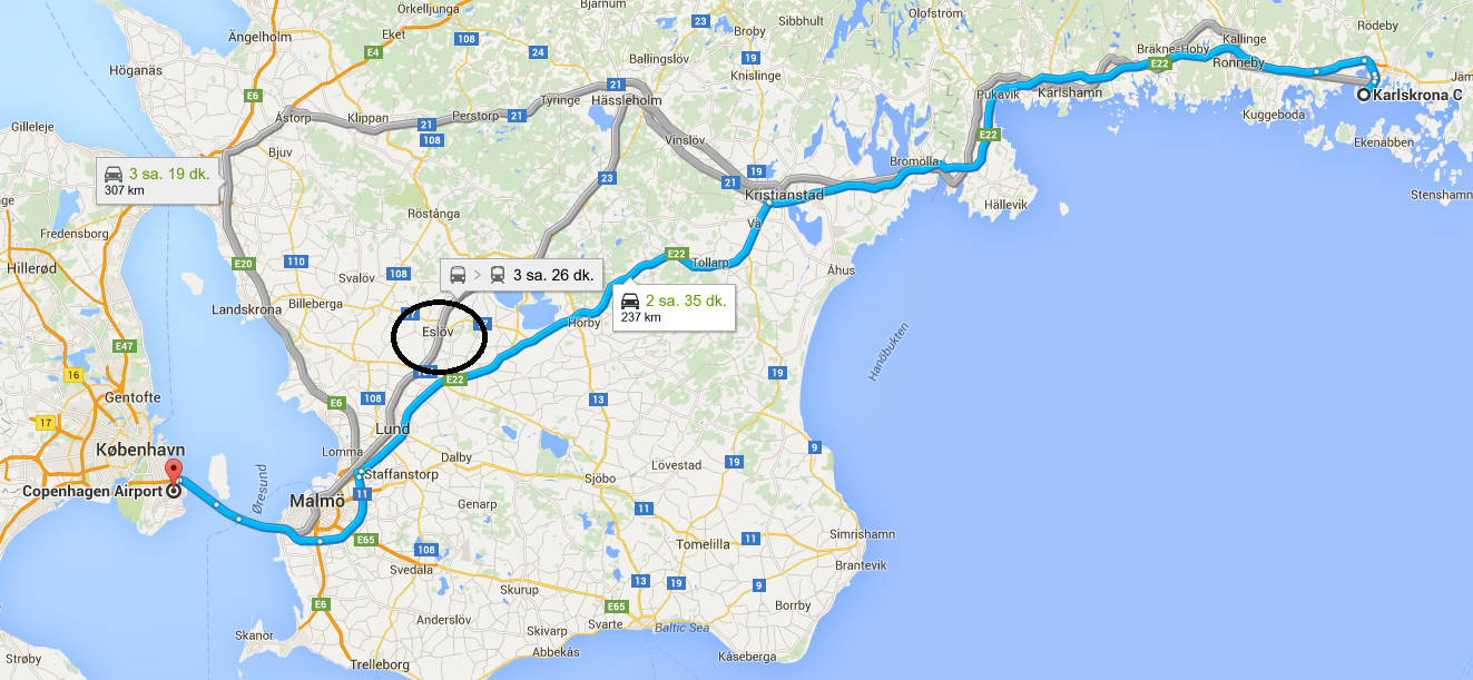 Karlskrona'ya 24 saatte gitmek!
