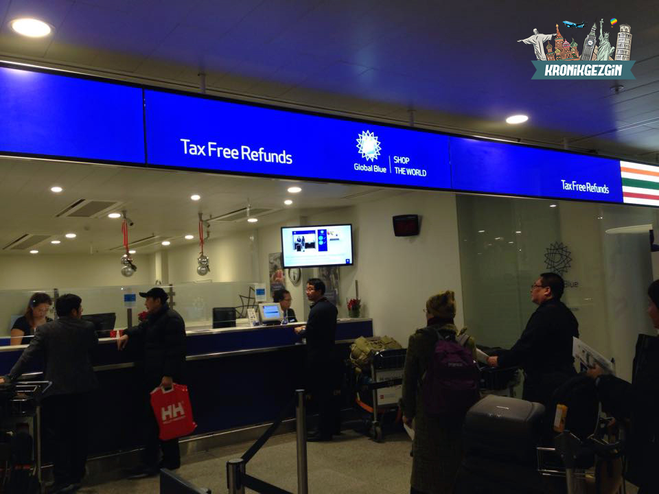 Kopenhag Havalimanı Global Blue Tax Free Şubesi